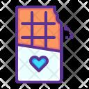 Chocolate Love Romance Icon