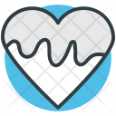 Chocolate Heart Dripping Icon