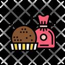 Chocolate Ball Icon