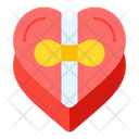 Chocolate Gift Heart Icon