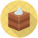 Chocolate Brownie Brownie Cake Piece Cake Slice Icon