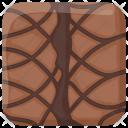 Chocolate Brownie Cake Icon