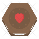 Chocolate Cake Heart Icon