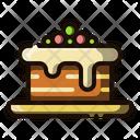 Chocolate Cake Cake Brownies Icon
