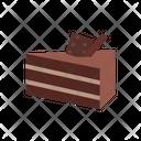 Chocolate Cake Dessert Cake Icon
