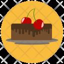 Chocolate Cake Cherry Icon