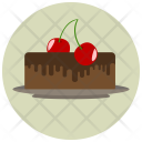 Cake Cherry Chocolate Icon