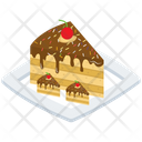 Chocolate Cake Slice Cake Slice Platter Food Icon