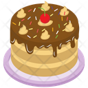 Chocolate Cake Vector Icon