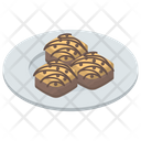Biscuits Chocolate Cookies Snacks Icon