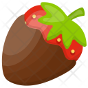 Chocolate Covered Strawberry Icon