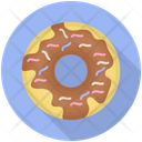 Chocolate Donut Donut Sweet Food Icon