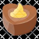 Chocolate Heart Icon