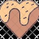Chocolate Heart Chocolate Syrup Dripping Chocolate Icon