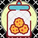 Biscuits Jar Snacka Cookies Jar Icon