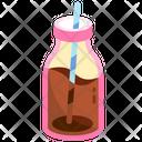 Glass Chocolate Milk Bottle Icon
