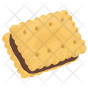 Chocolate Sandwich Biscuit Icon