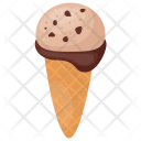 Chocolate Scoop Ice-cream Icon