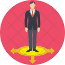 Choice Way Businessman Icon