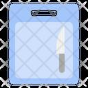 Chopping Board Knife Icon