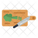 Chopping Board Knife Ingredients Icon
