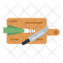 Chopping Board Knife Food Icon