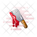 Knife Chopping Scary Icon