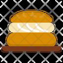 Choux Cream Eclair Dessert Icon