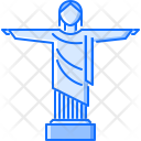 Christ Redeemer Statue Icon