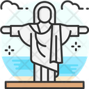 Christ The Redeemer Brazil Statue Icon