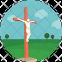 Christian Cloudy Jesus Icon