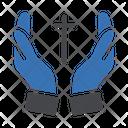 Cross Christian Hand Icon