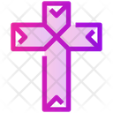 Spring Christianity Cross Icon