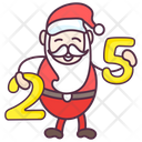 Santa Claus Christmas Christmas Date Icon