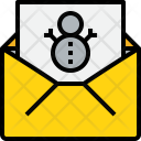 Christmas Mail Holiday Icon