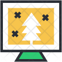 Christmas Shopping Tree Icon