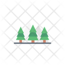 Christmas Trees Mountains Icon