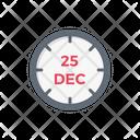Christmas Date Calendar Icon