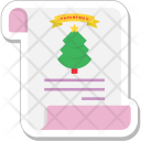 Christmas Card Greeting Icon