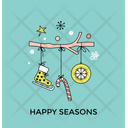 Presents Sled Gift Icon