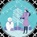 Christmas Xmas Snowman Icon