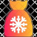 Christmas Bag Gift Claus Icon