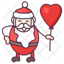 Christmas Balloon Santa Claus Santa Balloon Icon