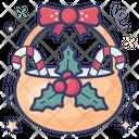 Christmas Basket Food Bucket Gift Basket Icon