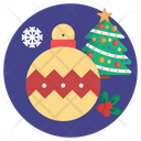 Bell And Tree Ball Xmas Icon