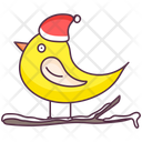 Canary Finch Christmas Bird Icon