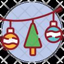 Decorative Balls Christmas Lights Bauble Balls Icon