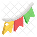 Christmas Buntings Pennants Party Flags Icon