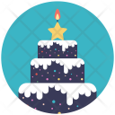 Cake Christmas Confectionery Icon