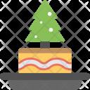 Christmas Cake Dessert Icon